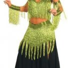 9 Piece Beaded Dancer Costume with Hanging Fringe