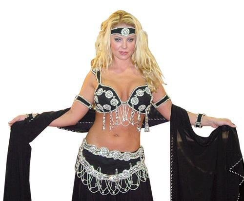 8 Piece Belly Dancer Outfit with Skirt and Scarf