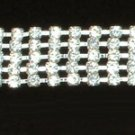 Five Row Rhinestone Belt with Clasp