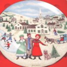 1987 I Heard the Bells on Christmas Day Royal Windsor plate Joan Landis 6th edition certificate box