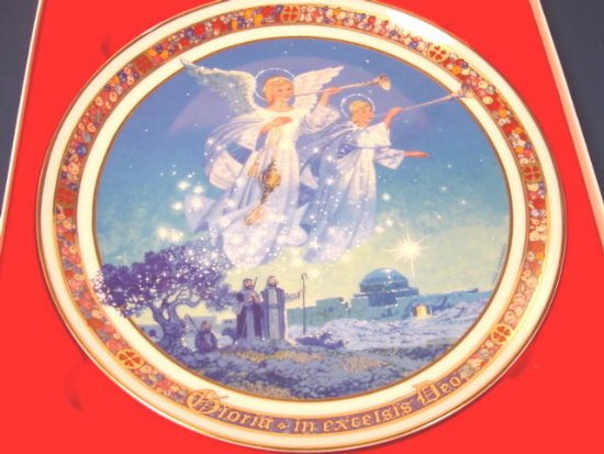 1988 Gloria in Excelsis Deo Royal Windsor Christmas plate 7th edition artist Jack Woodson box