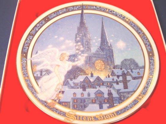 1991 Silent Night Christmas plate Royal Windsor Jack Woodson porcelain china, box