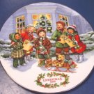 1991 Perfect Harmony Avon Christmas plate children carolers porcelain china 22K gold trim, box