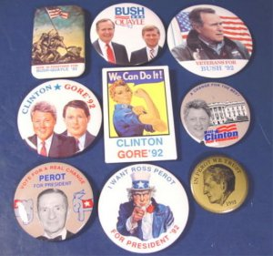 Bush Quayle Clinton Gore 9 presidential campaign 1992 political buttons 12008BUT1