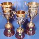 Bakelite Brass 3 trophies Sumner County Fair Best Livestock Exhibit 1954, 56, 57 loving cup