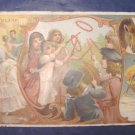 1893 Victorian antique advertising trade card Arbuckle Ariosa Coffee Poland children dancers