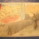 Arbuckle Ariosa Coffee trade card 1889 advertising antique Victorian Siberia map guards convicts