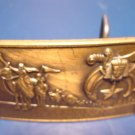 1978 Shriner fraternal Masonic solid bronze Klitzner belt buckle Shriners Masons sword, sphinx, star