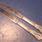 Vintage 1956 Wm. A. Rogers Valley Rose Oneida silver plate flatware 2 knives silverplate knife