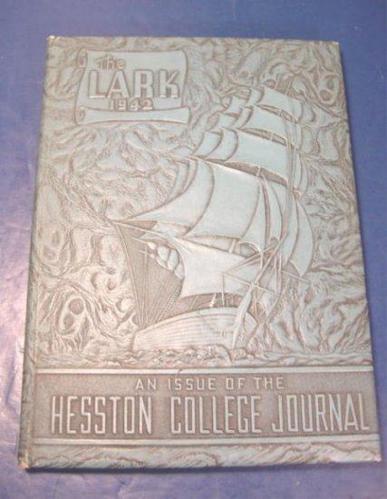 1942 The Lark Hesston College Journal college and Bible school yearbook Kansas Ks. Mennonite
