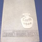 1944 Hesston College Journal The Lark yearbook college and Bible school Kansas Ks. Mennonite