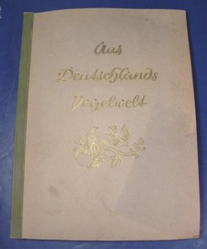 Antique 1936 German 200 birds cigarette color trade cards album Aus Detschlands Vogelwelt book