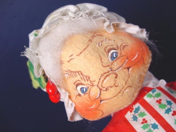 Vintage 1963 Christmas Annalee Mobilitee Dolls 11 inch Mrs. Santa ...