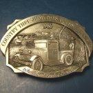 Goessel Kansas country threshing days farm belt buckle Wheatland KS. Bank 1986 pewter 13th annual