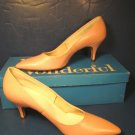 Miss Wonderful shoes 1960s vintage ladies pink faux lizard print spike heels pumps 6 AA