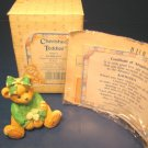 Cherished Teddies Kathleen Luck Found Me a Friend in You Irish bear figurine 1993 Enesco 916447