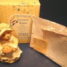 Cherished Teddies Patience Happiness is Homemade figurine bear pilgrim with pie 1994 Enesco 617105