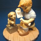 Goebel Clean Bill of Health Berta Hummel porcelain china figurine BH81 1999 boy figure puppy dog