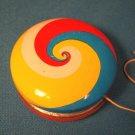 Vintage Tin YoYo spiral circles swirls litho 1960s metal yo yo toy Japan Patent 533107 rattles