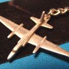 Pewter U-2 USAF CIA spy surveillance plane keychain military airplane aircraft Sparta key ring