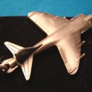 Pewter Harrier British jump jet keychain airplane aircraft military keyring aviation key ring