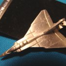 Pewter Avro-Arrow fighter jet airplane keychain Canada aircraft military aviation keyring key ring