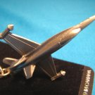 Pewter CF-18 Hornet fighter jet airplane keychain Canada aircraft military aviation keyring
