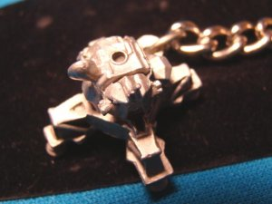 Pewter Lunar Lander moon landing space vehicle keychain NASA aviation spacecraft handcrafted keyring