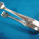 Oneida sugar cube tongs Meadowbrook Heather 1881 Rogers silverplate 1936 silver plate tableware