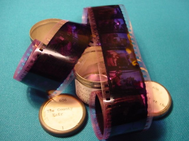 County Fair Farm Animal Filmstrip 35mm 2 rolls school education celluloid projector film 1949 movie