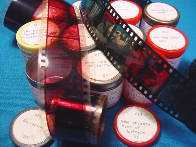 Health Respiration 11 rolls Filmstrip 35mm school educational celluloid projector film 1950s movies