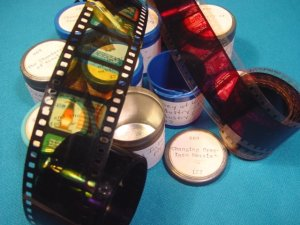 Steel Iron 8 rolls Filmstrip 35mm school educational celluloid projector film 50s 35 mm movies