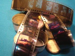 Transportation Railroad 5 rolls Filmstrip 35mm school education celluloid projector film 50s movies