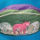 Yellowstone National Park felt hat Old Faithful Great Falls child beanie cap vintage 50s souvenir