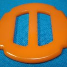 Bakelite belt buckle butterscotch vintage 1920s jewelry clothing accessory plastic catalin slide