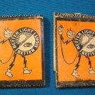 Reddy Kilowatt matchbook cover feature artwork Lion 2 match books Ks. Power 1937 Ashton B. Collins