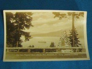 RPPC Prospect Point Stanley Park Vancouver B.C. Canada real photo postcard Gowen Sutton sepia 30s