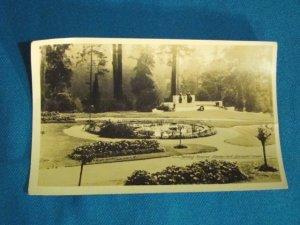 RPPC Harding Memorial Stanley Park Vancouver B.C. Canada real photo postcard Gowen Sutton sepia 30s