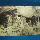 RPPC Cliff Dwellings Walnut Canyon Arizona real photo postcard AZO black white 1930s