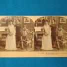 Soldier Victorian lady stereograph stereoview stereoscope card B.W. Kilburn antique 1909 James Davis