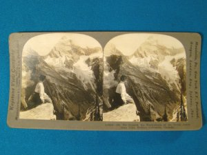Mt. Sir Donald British Columbia Canada stereoview stereograph stereoscope card Keystone antique 1909