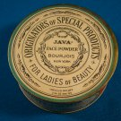 Java Naturelle face powder Bourjois for ladies of beauty 1920s vintage makeup full box