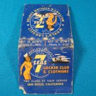 7 Seas Locker Club & Clothiers Military matchbook cover San Diego CA. nude girl