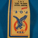 F.O.E. match book cover Fraternal Order of Eagles 1949 El Dorado Ks. Aerie 2823