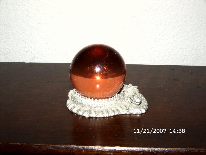 Crystal ball and holder