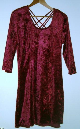 Red velveteen party dress