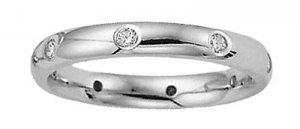Benchmark - 14 K White Gold Diamond Eternity Comfort Band Reg $689