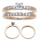 14 K Yellow Gold Diamond Wedding Set 1/3 Carat Reg $689