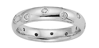Benchmark - 4mm 14K White Gold Eternity Comfort Diamond Ring Reg $1,149