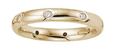 Benchmark - 3mm 14 K Yellow Gold Diamond Eternity Comfort Band Reg $689
